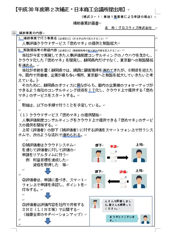 補助事業計画書01