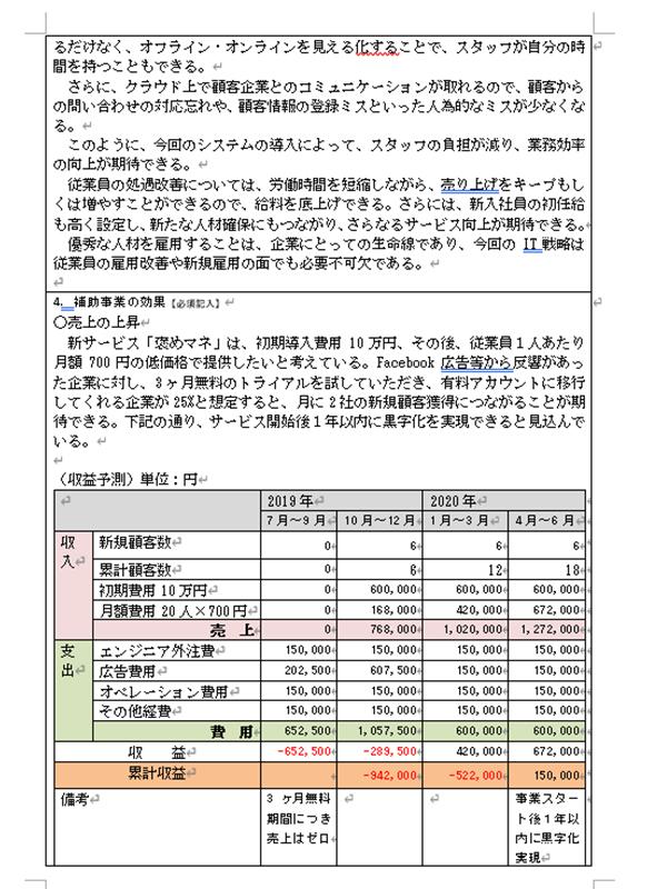 補助事業計画書03